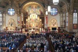 Eucharystia w kościele na Trójcowie