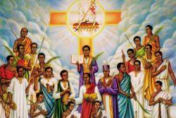 Wprowadzenie relikwii męczenników z Ugandy
